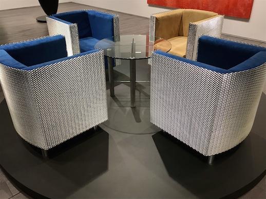 Shiro Kuramata, 'Expand Chair Set and Glass Table' (1986)