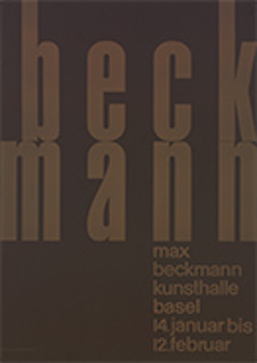 Emil Ruder, 'Max Bechmann/Kunsthalle Basel' 1956 © Emil Ruder