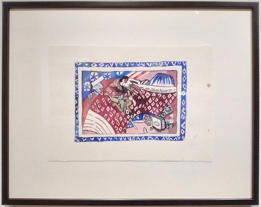 "Zoe Porter, ""Ama & Yokai"" (2020), Watercolor and Gouache on Paper"