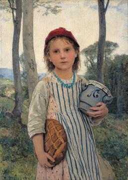 《赤ずきん》1883年 油彩・キャンヴァス