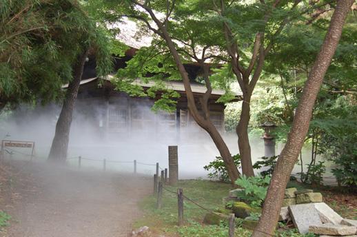 中谷芙二子《雨月物語-懸崖の滝 Foggalls #47670》 霧を用いた作品