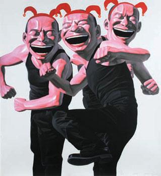 Yue Minjun ''Kung Fu'' (2006), 41 x 45 inches. Courtesy of Gallery ARTSIDE.