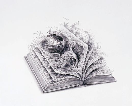 《焚書 World of Wonder》 アクリル、鉛筆、色鉛筆、紙 2007年