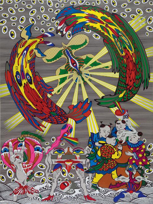 《回転する光線 / Spinning Beams》