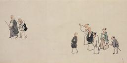 奥の細道画巻(部分) 与謝蕪村筆 一巻 安永7年(1778) 海の見える杜美術館蔵