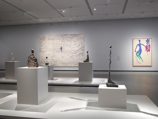 アルベルト・ジャコメッティ、ジョヴァンニ・アンセルモ、アンリ・マティスの展示風景