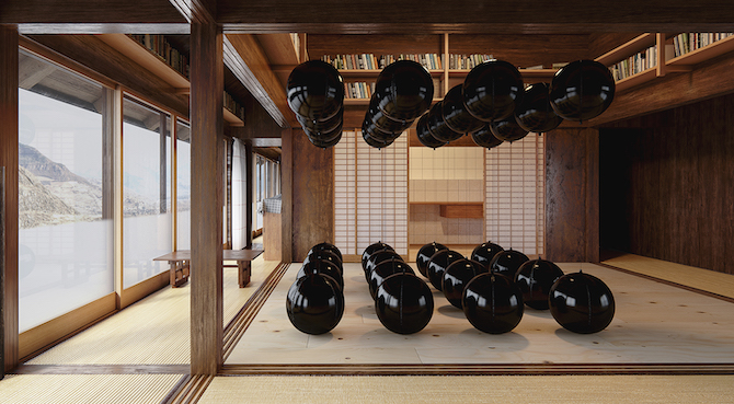 BLACK BALLONS by タダオ・スァーン  会場 broadbean 東京都港区六本木6-5-24