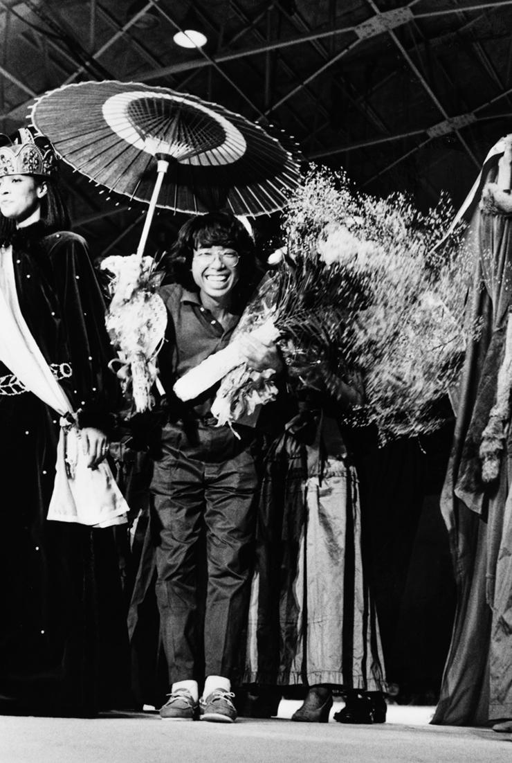 ショーのフィナーレで(1978年)『ハイファッション』掲載写真より
