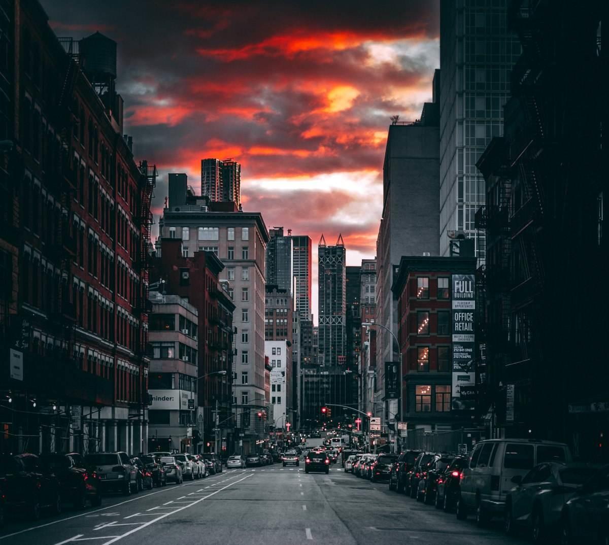 heat island effect in a city