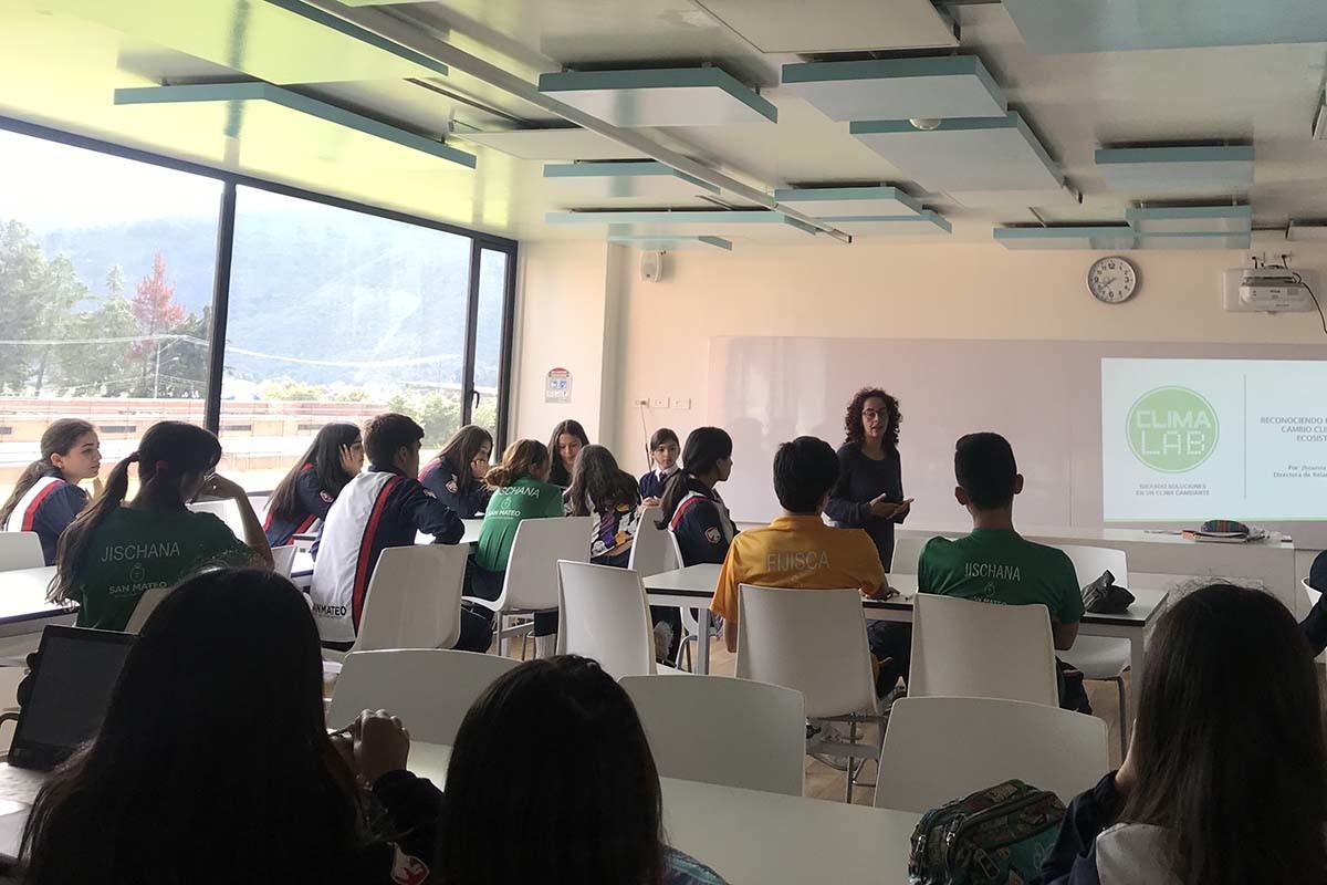 Actividades de ClimaLab en un colegio de Bogotá.