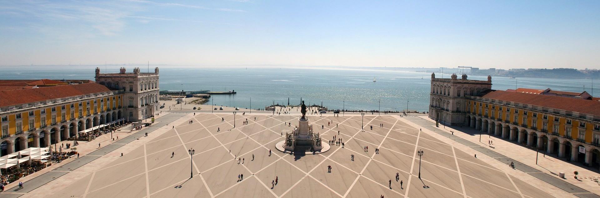 Una gran plaza de Lisboa