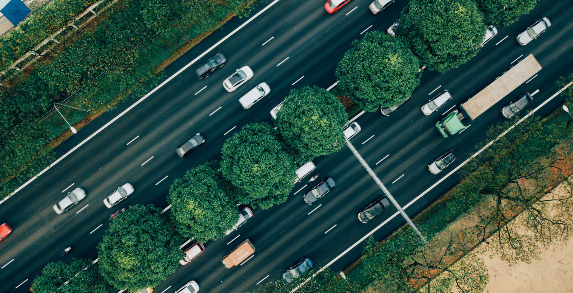 road traffic as seen from above