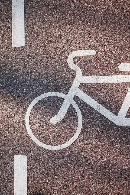 bike signal on a road