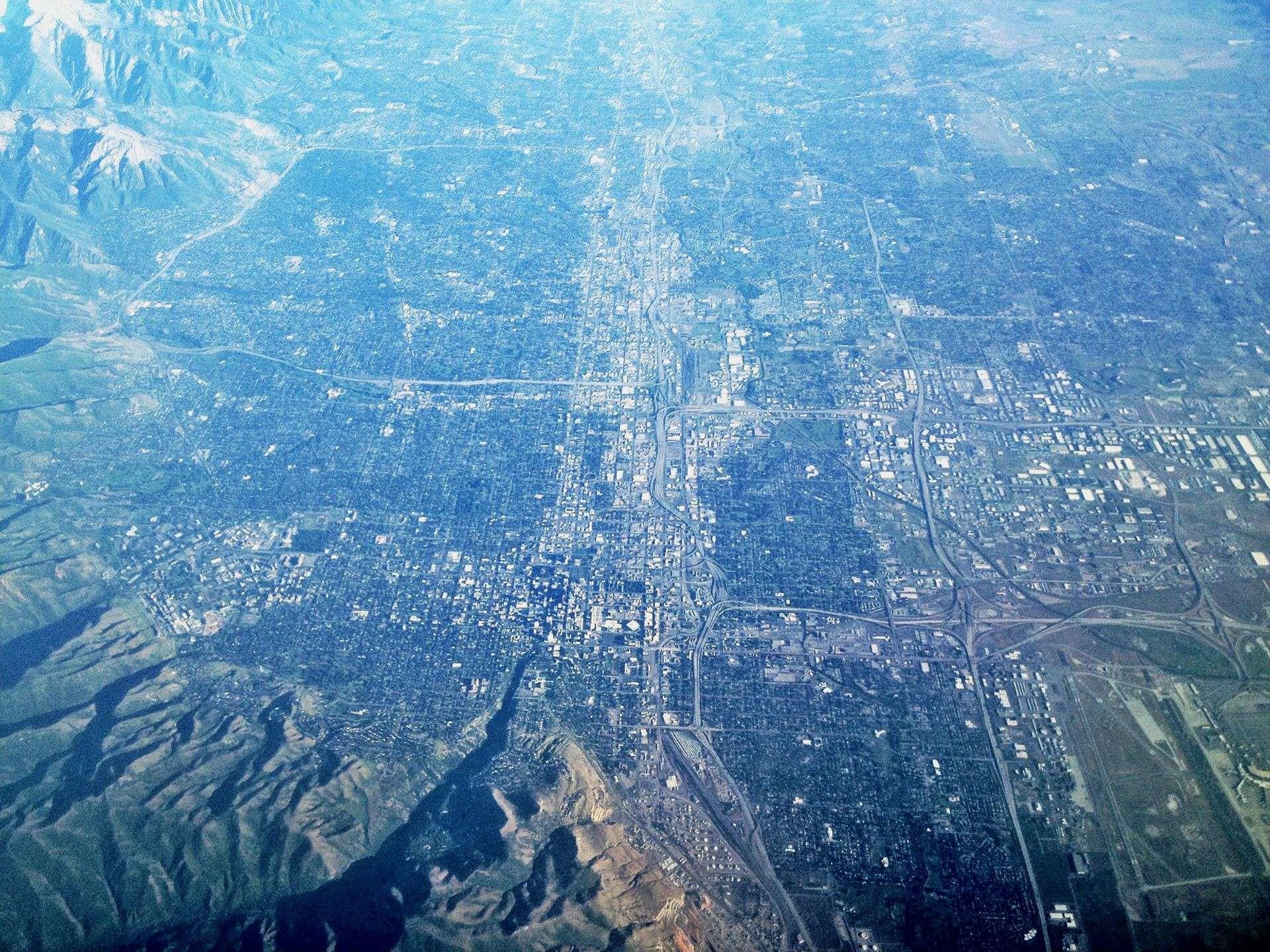 Vista aérea de Salt Lake City