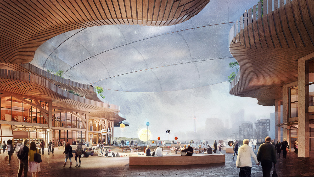 An idea for a mall in a newly built smart city