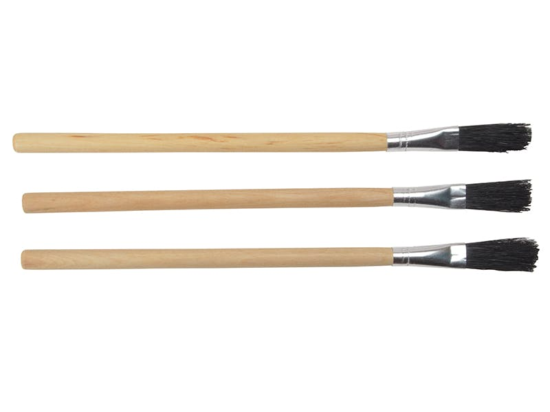 image of Monument 3015M Wood Handle Flux Brushes (Pack 3)