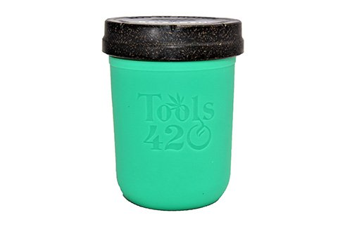 Re-Stash 8 oz Cannabis Storage Jar Green and Black