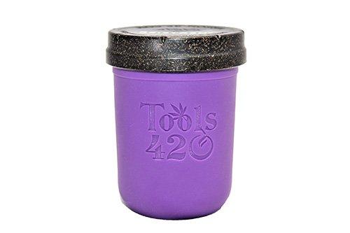 Re-Stash 8 oz Cannabis Storage Jar Purple and Black