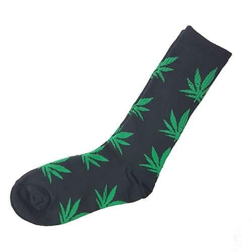 Cannabis Leaf Socks Black & Green