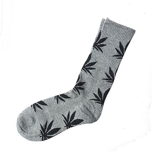 Cannabis Leaf Socks Gray & Black