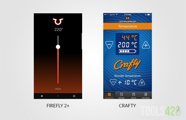 Firefly 2 Plus and Crafty App for Temperature