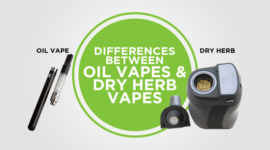 Differences Between Oil Vapes & Dry Herb Vapes