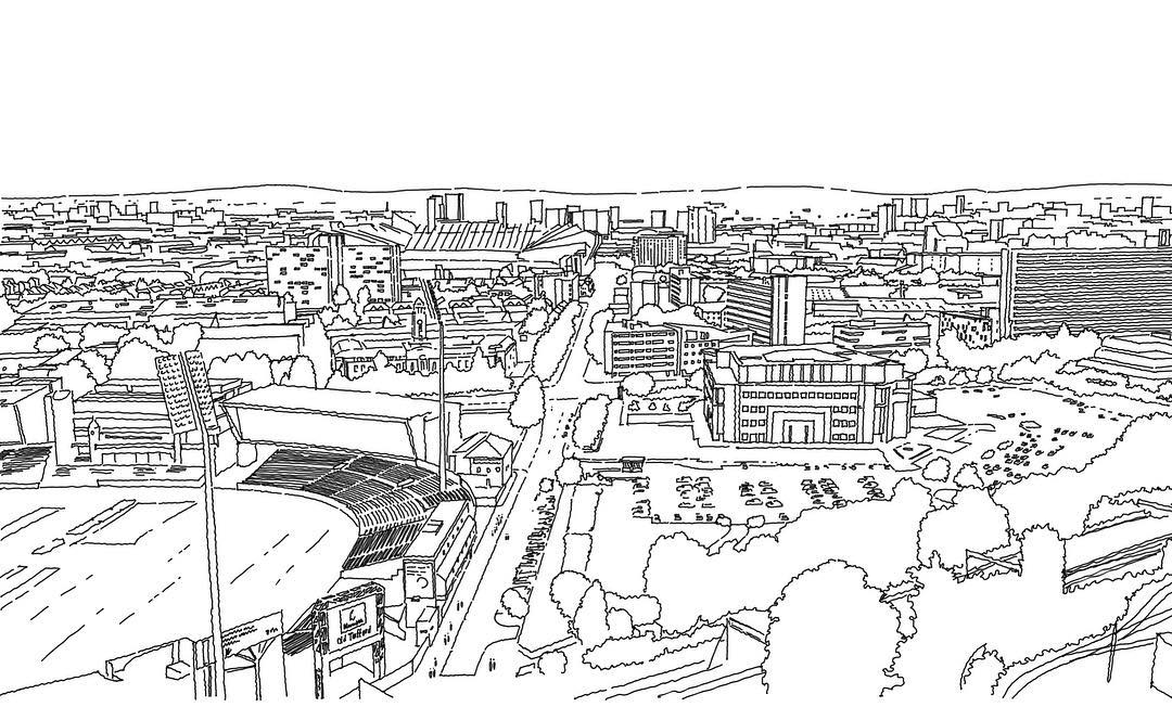 Ewen Miller Trafford Existing View using Concepts for iPad