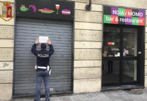 Notificato il decreto di sospensione della licenza per la somministrazione di cibi e bevande ad un Bar in corso Vercelli