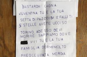 Minacce di morte a Chiara Appendino