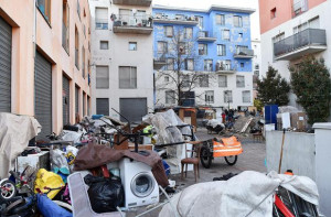 Ex Moi Torino, sgomberata la palazzina blu