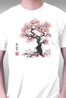 Forest Spirits Sumi-e