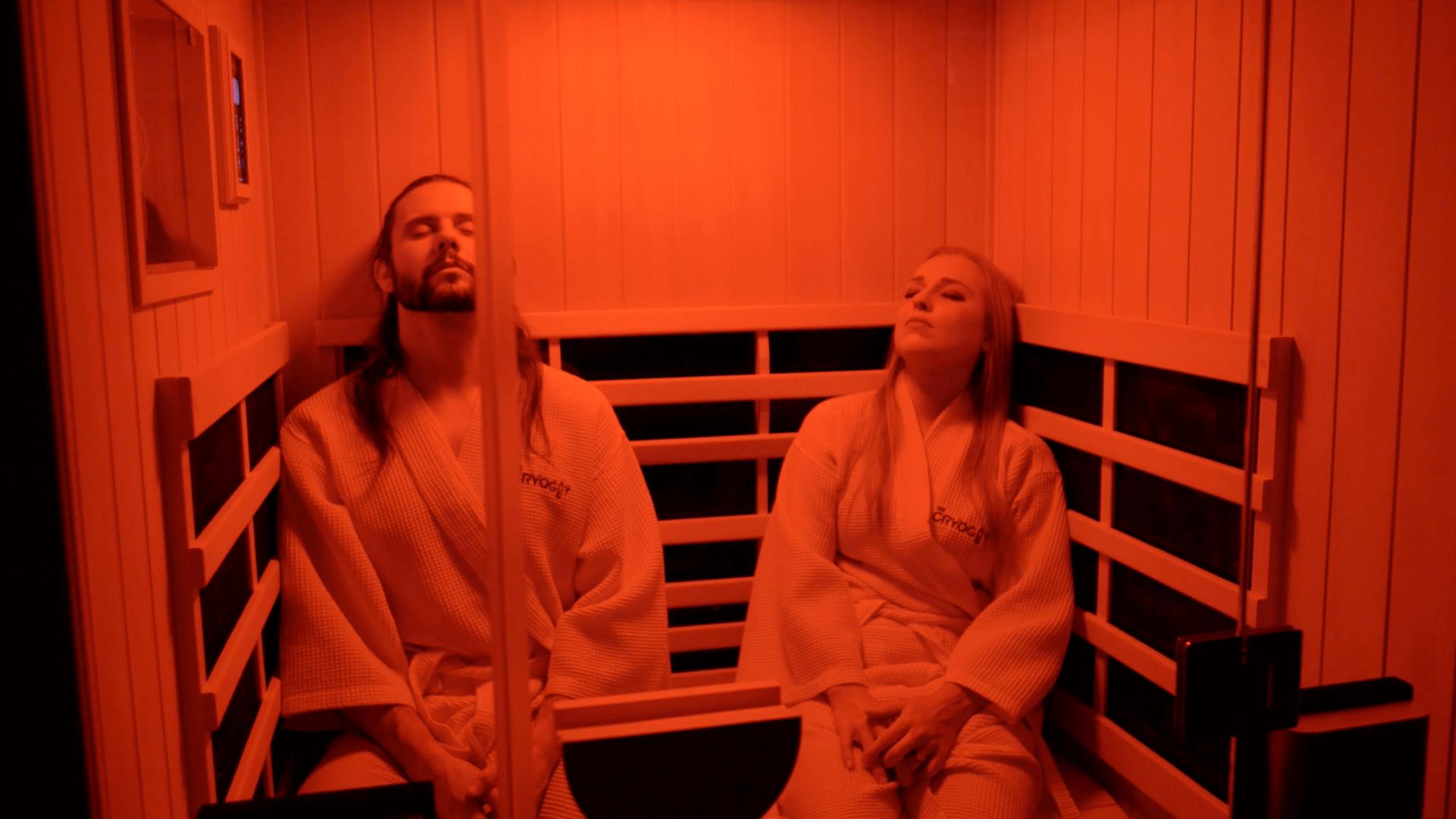 Infrared sauna couple
