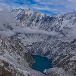 Aerial view of attabad lake  hunza. 3