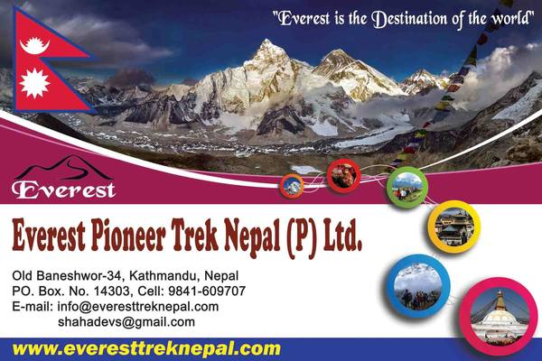 Everest pioneer trek banner.