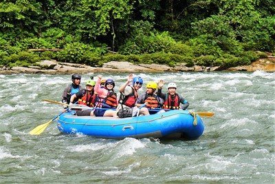 Rafting on the jatunyacu