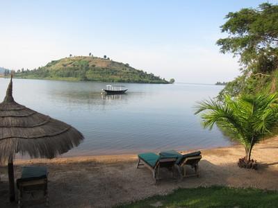 The shores of lake kivu
