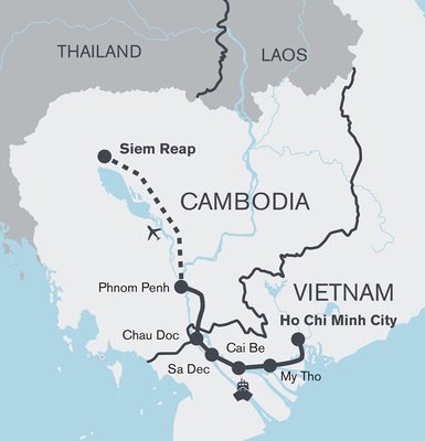 Mekong bike and boat