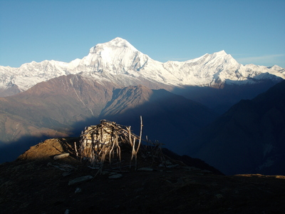 View of dhaulagiri from khopra danda