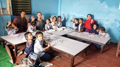 Children in community school learning