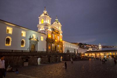 Quito old town san francisco church %281%29
