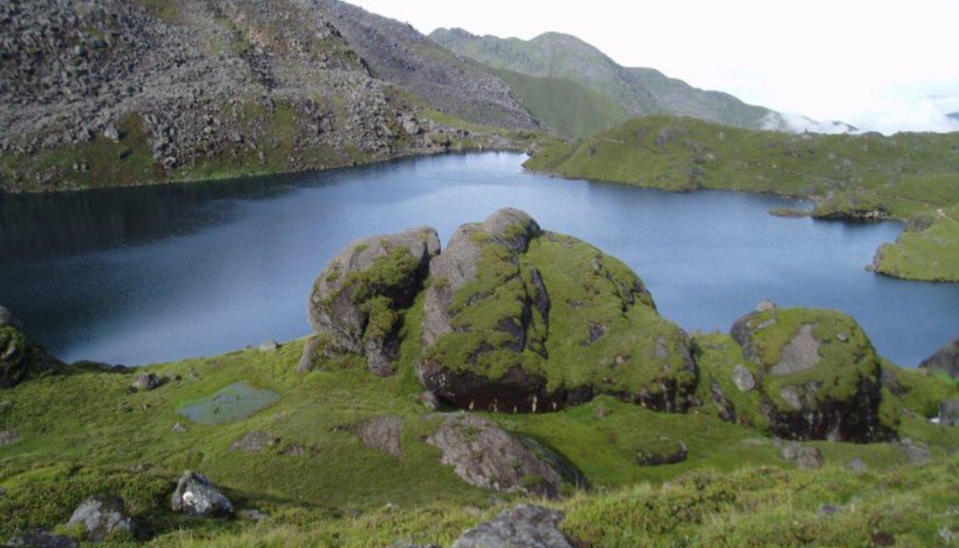 Beautiful gosaikunda lake