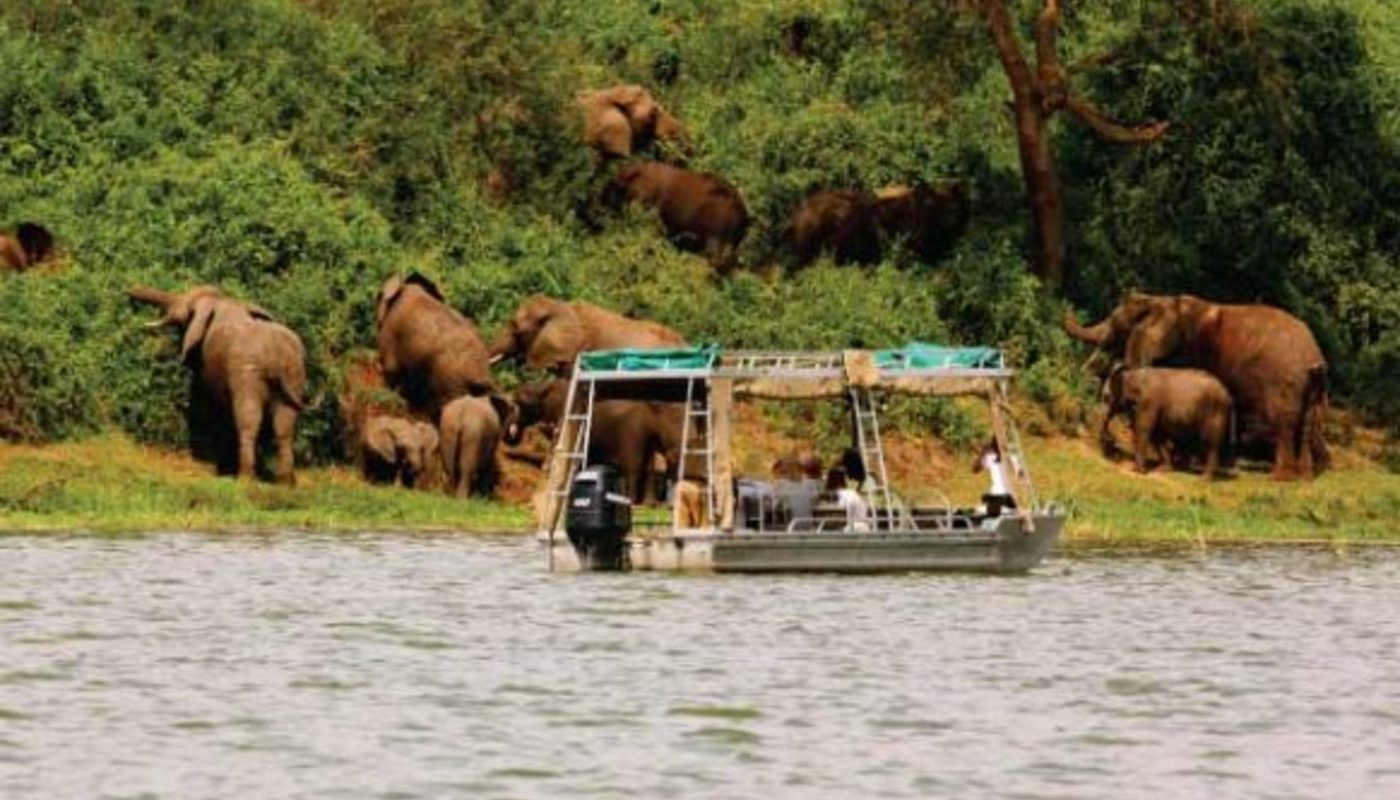 Boat cruise in lake mburo