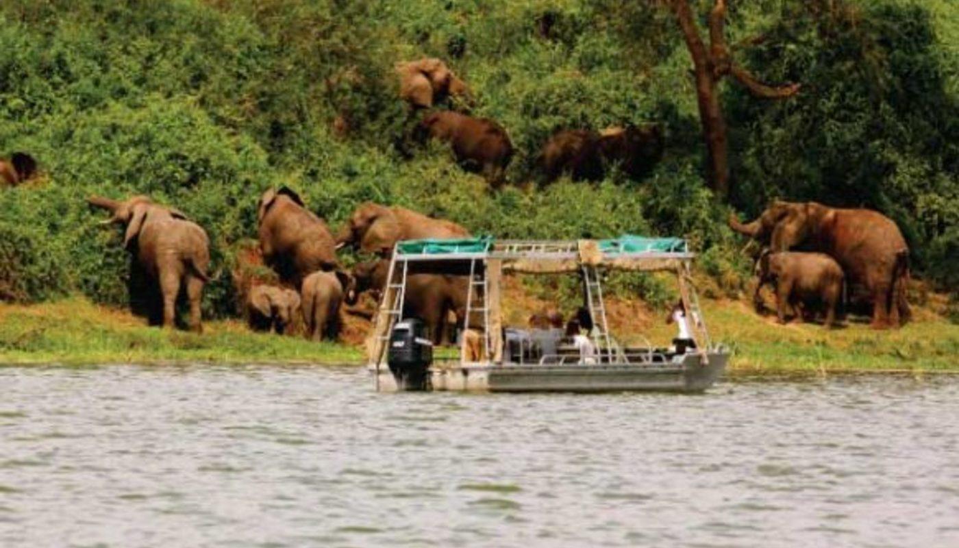 Boat cruise in lake mburo