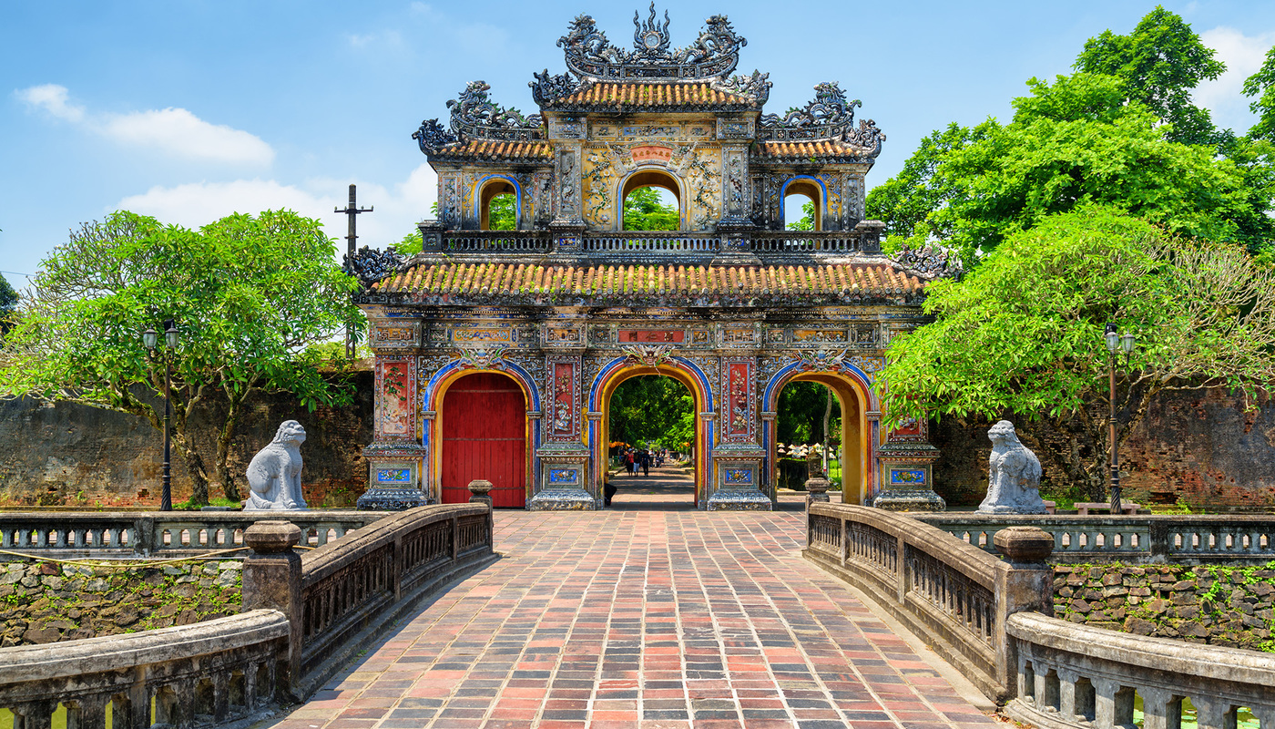Day 6   shutterstock   1095139391 vietnam scenic view of the east gate %28hien nhon gate%29 to the citadel with the imperial city on summer sunny day in hu