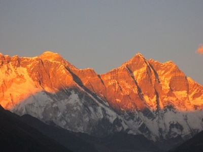 Sunset of mt everest