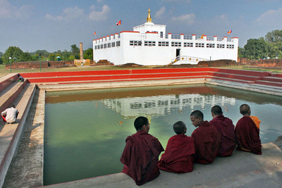 Nepal lumbini buddha birthplace temple l