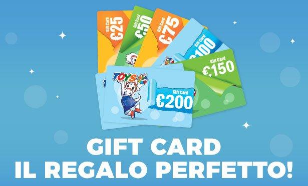 Compra online la tua gift card per usarla su www.toyscenter.it e in tutti i 130 negozi.
