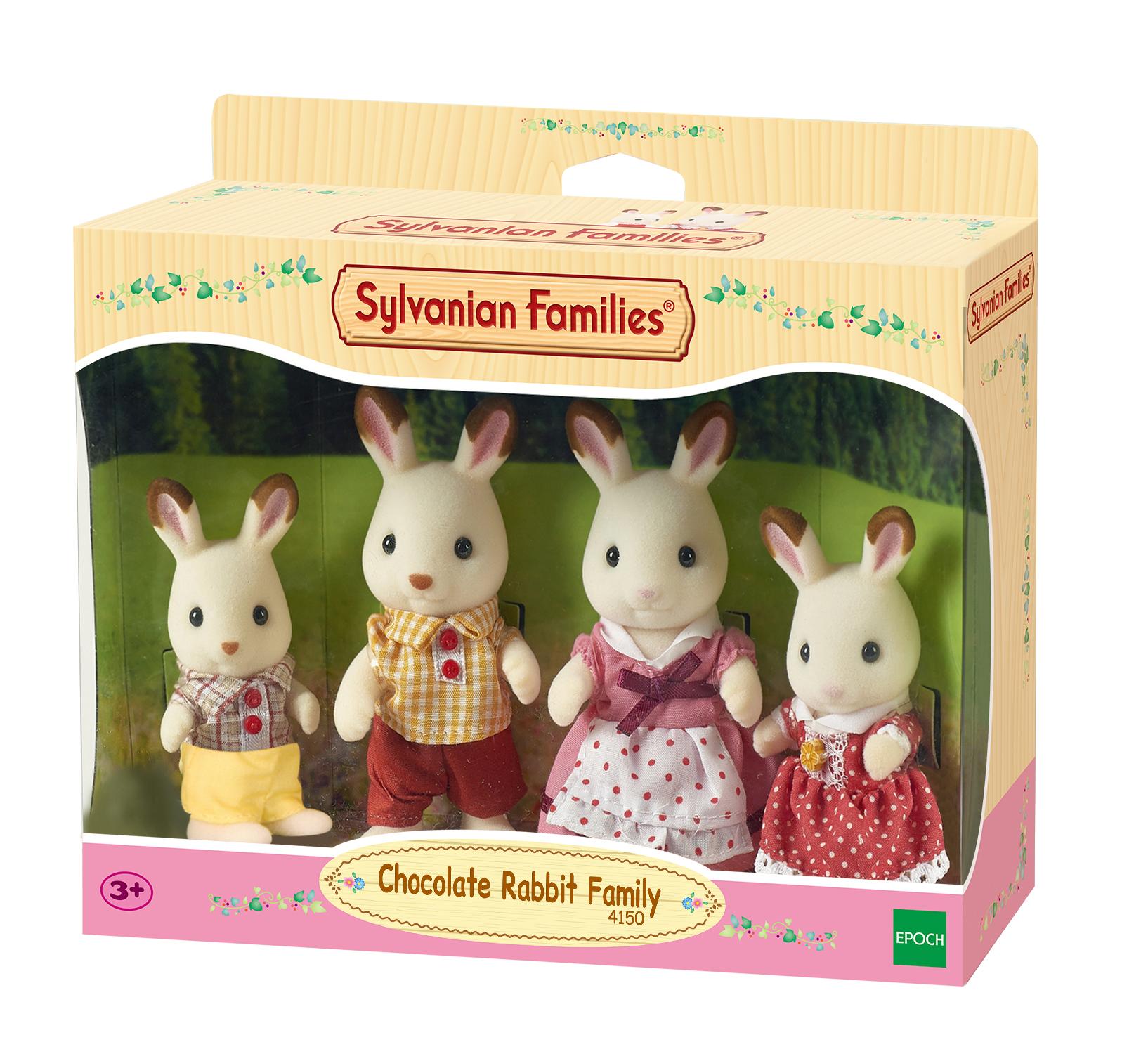Sylvanian families - famiglia conigli cioccolato - SYLVANIAN FAMILIES