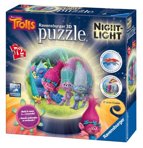 Lampada notturna Trolls - Giocattoli Toys Center - ALTRO - Puzzle 3D