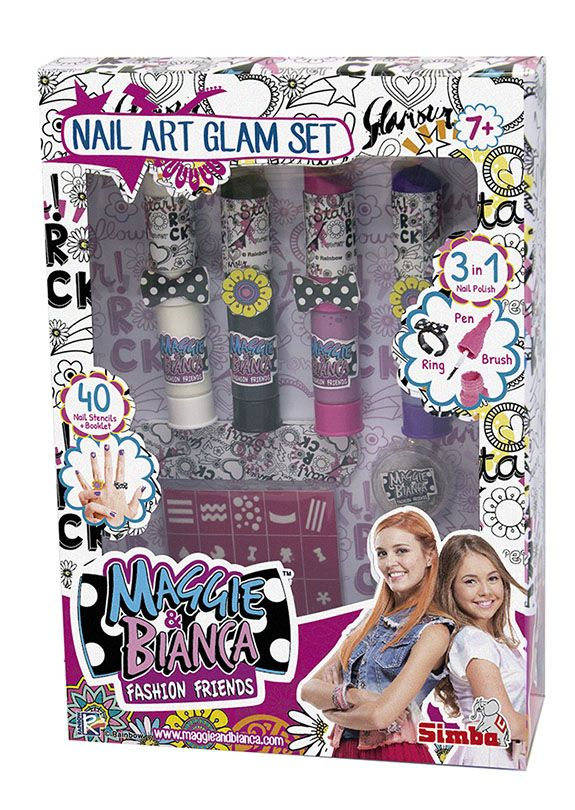 Maggie & Bianca Nail Art Glam - Altro - Toys Center ALTRO Femmina 12+ Anni, 5-7 Anni, 8-12 Anni Maggie & Bianca